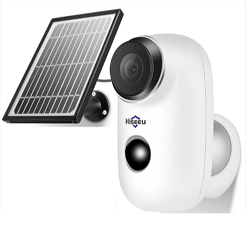Wireless Cctv Camera with Rechargeable Battery and Solar Panel, Wifi, Motion Detection