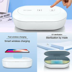 UV Disinfection Sterilisation Box with Wireless Charging Pad