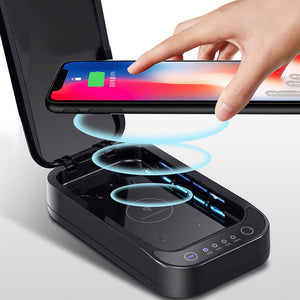 Wireless Charging with UV Steriliser Box