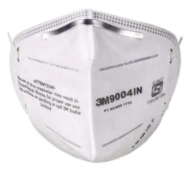 3M™ Cupped Particulate Respirator 9004IN Protective Dust Mask 5/10 Pcs. Pack