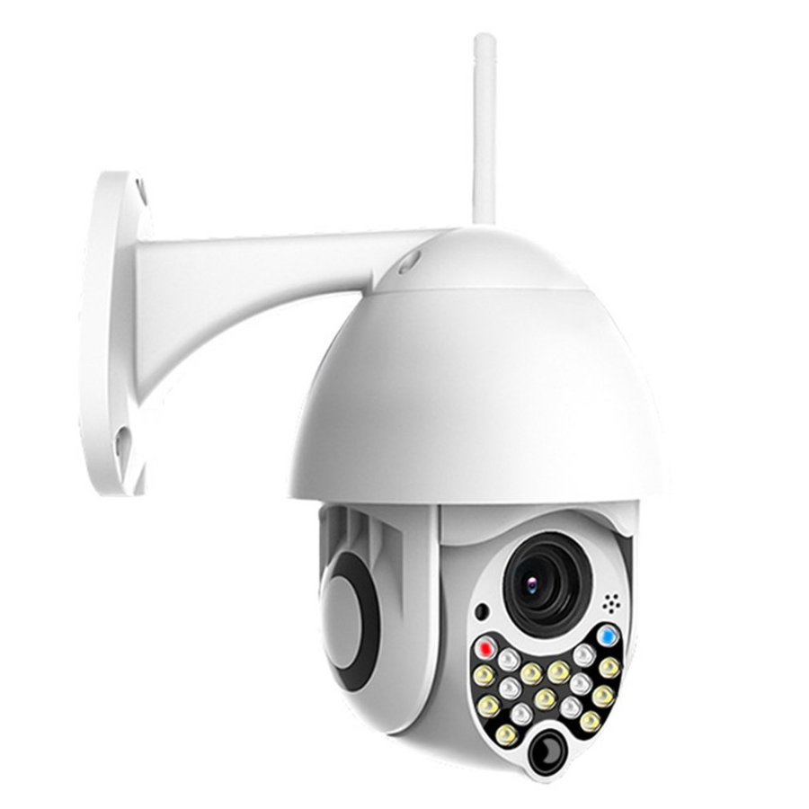 Wireless ptz Cctv Camera with 4X Digital Zoom, Color Night Vision, Wifi, 2 Way Audio, Motion Sensor, Mobile View