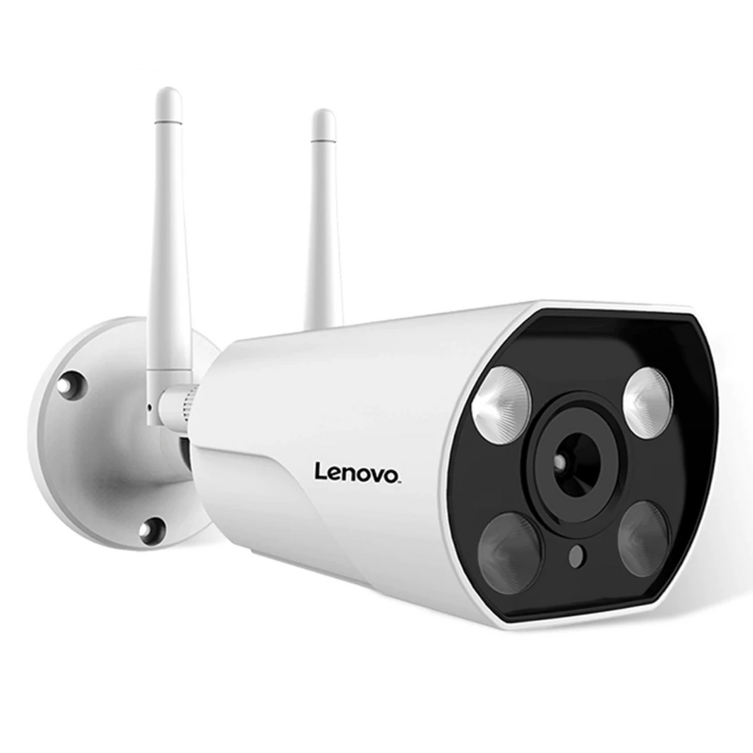Wireless IP Camera for Outdoor Surveillance by LENOVO with Color Night Vision, Wifi 1080P, ONVIF, Waterproof