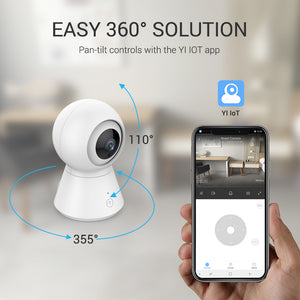Wireless 360 Home Security Camera with Cloud Recording and Motion Detection Alerts