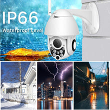 Load image into Gallery viewer, Wireless ptz Cctv Camera with 4X Digital Zoom, Color Night Vision, Wifi, 2 Way Audio, Motion Sensor, Mobile View