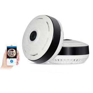 Mini Wireless Home Security CCTV Camera FishEye IP Camera 360 degree Panoramic View