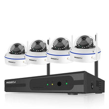Load image into Gallery viewer, 6 Wireless Ip Cameras With NVR Kit 2MP Vandalproof Wifi Camera Audio IR Night Vision