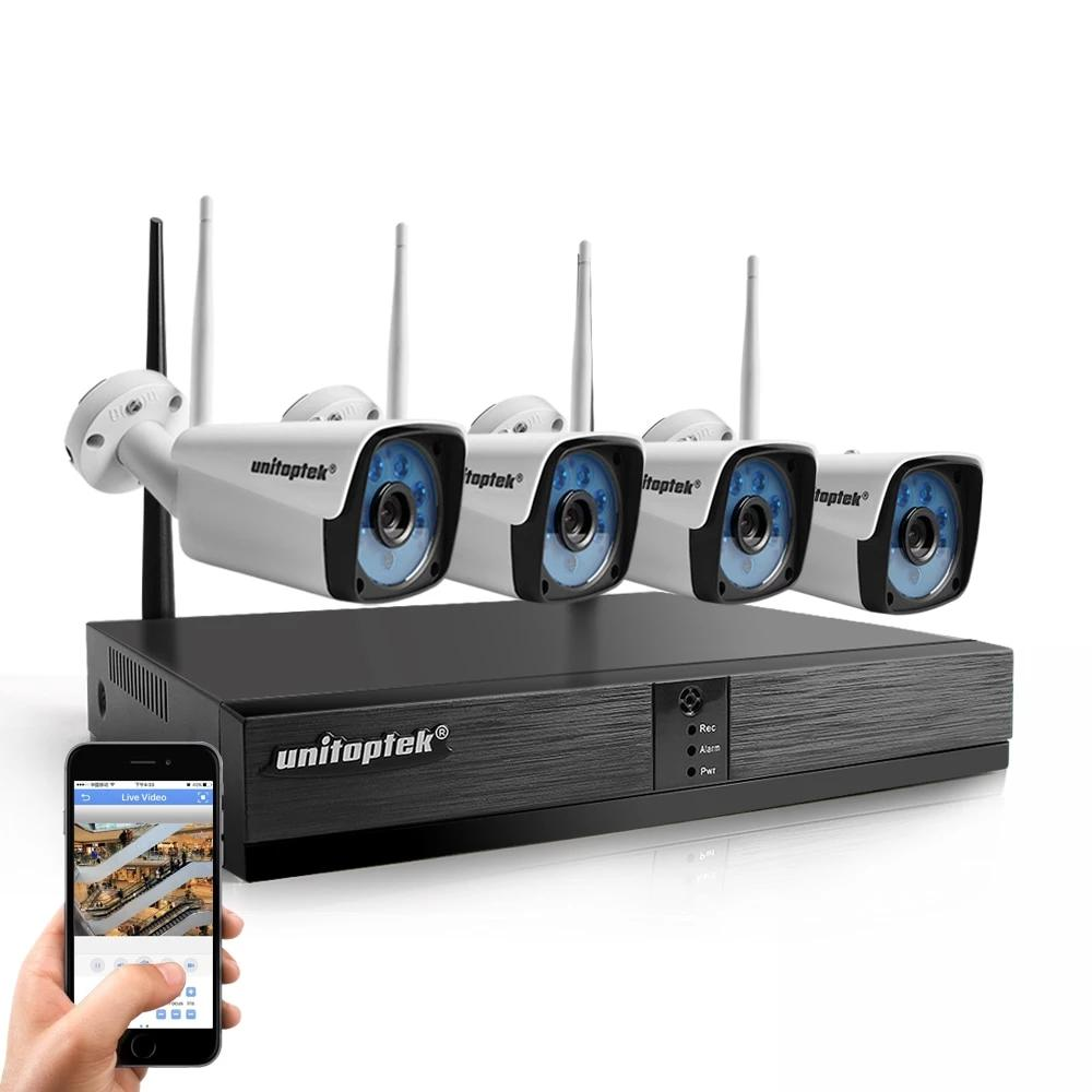Wireless 4 Ip Cameras with Nvr Kit Wireless Cctv Cameras System 4Ch. NVR Kit