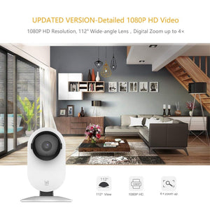 Wireless Home Security Camera Pair of 2 with Cloud Recording and Motion Detection Alerts