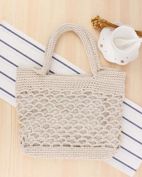 Cotton Crochet Tote Bag