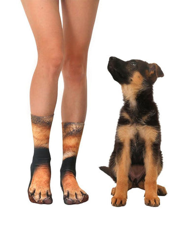 3D Printing Doggy Feet Patterns Socks