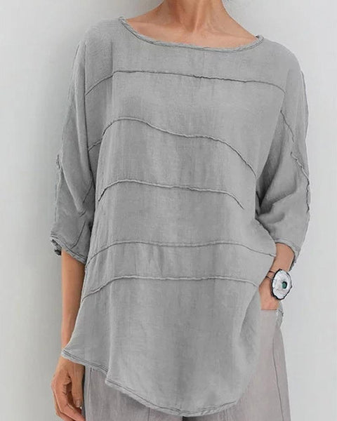 Solid Batwing Sleeve Top