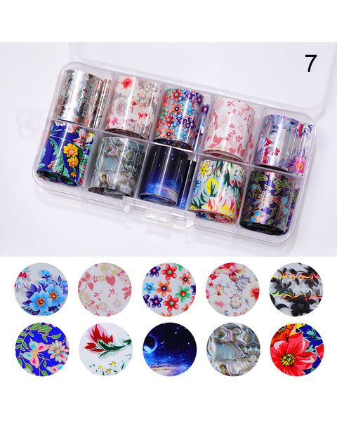 Colorful Laser Star Transfer Paper Nail Stickers