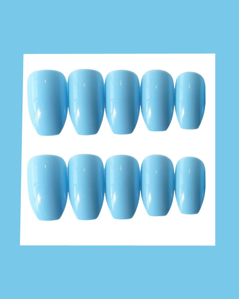 High Shine Smooth Solid Nails Stickers