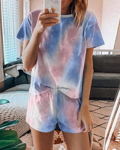 Comfy T-shirt Shorts Homewear Sets