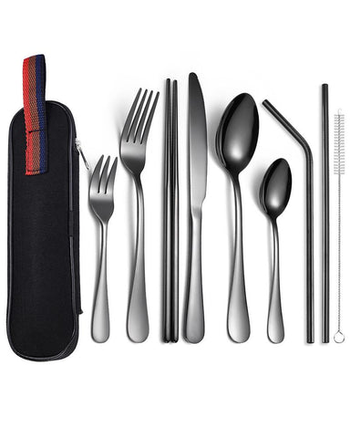 Stainless Steel Nine-piece Western Tableware