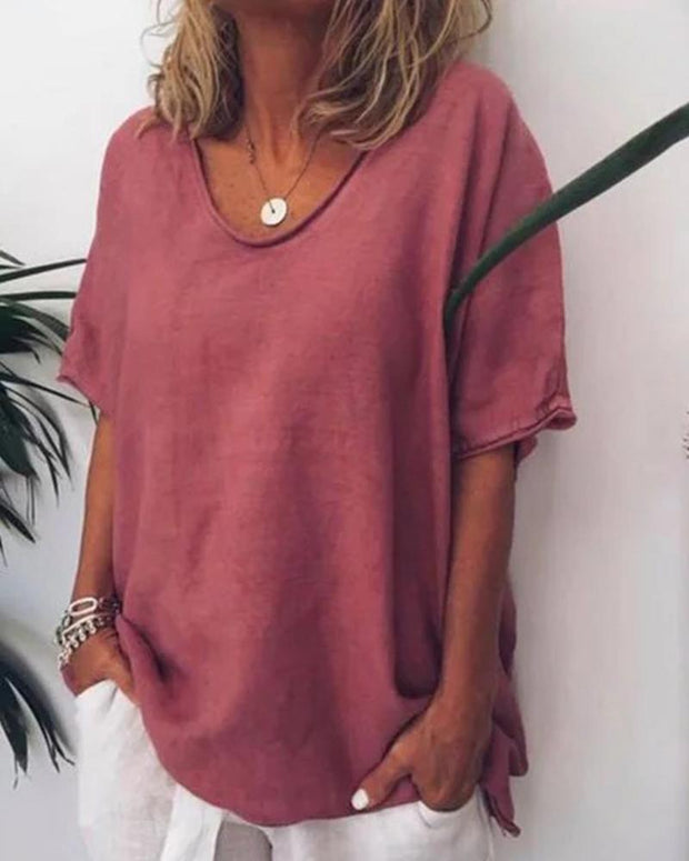 V Neck Loose T-Shirt