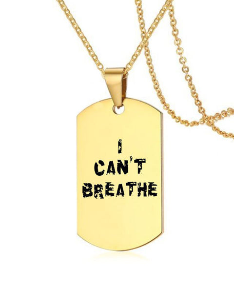 I Can't Breathe Stainless Steel Pendant Necklace