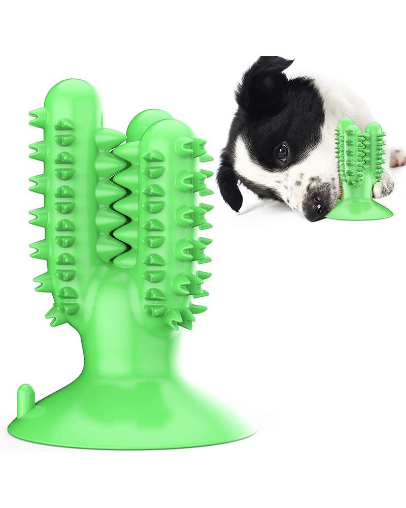 Dog Pet Toothbrush Rubber Chew Toys Teeth Cleaning and Training