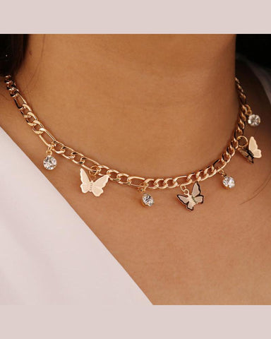 Butterflies Choker Necklace