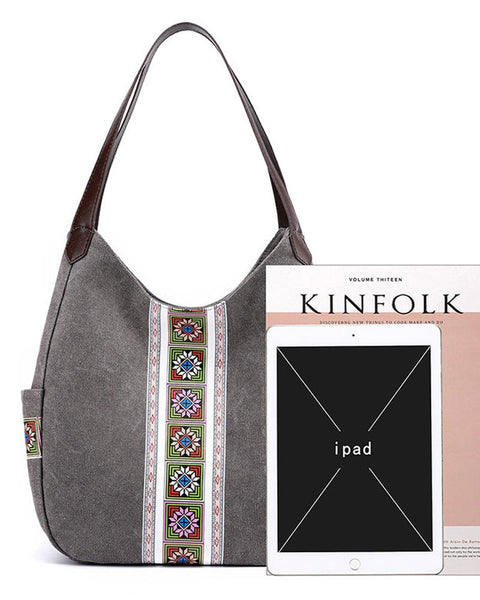 Print Retro Handbag Shoulder Bag