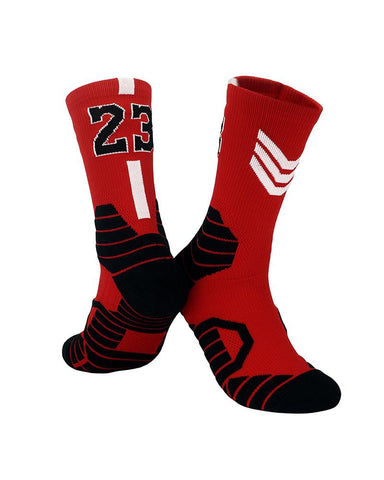 Numbers Patterns Midi Basketball Socks