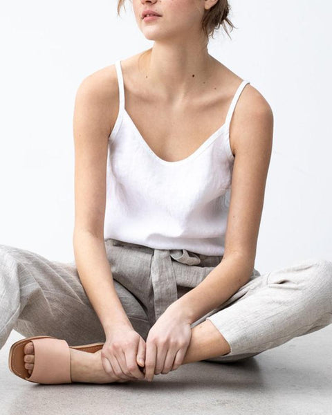 Solid Round Neck Loose Tank