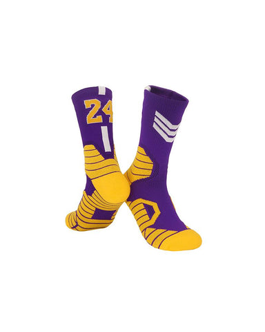Numbers Patterns Basketball Midi Socks
