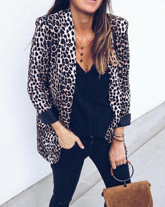 Serpentine Leopard Long-Sleeved Coat