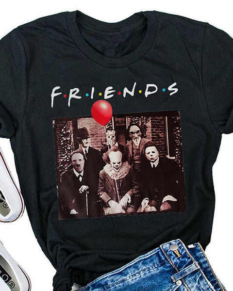 Halloween Sacry Friends T-Shirt