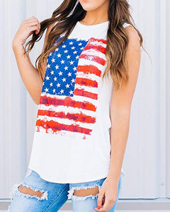 American Flag Star Striped Tank Top
