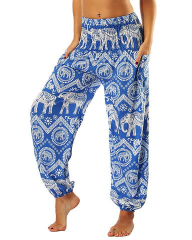 Animal Print Wide Leg High Waist Yoga Pants