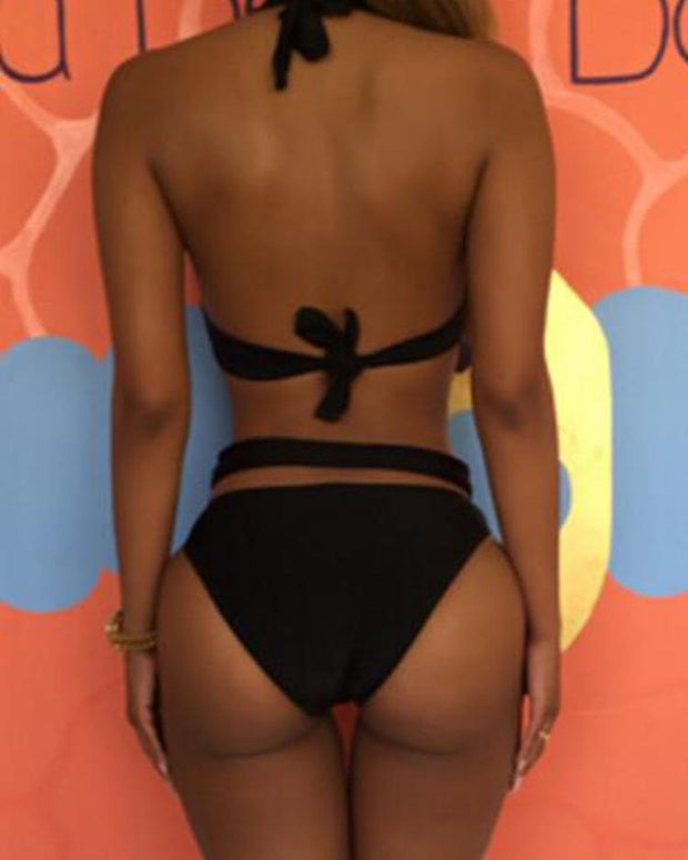 Halter Cutout Backless One Piece Swimsuit