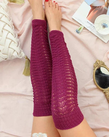 Casual Solid Color Over The Knee Socks