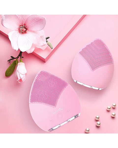 Waterproof Leaf Silicone Facial Cleansing Brush Massager