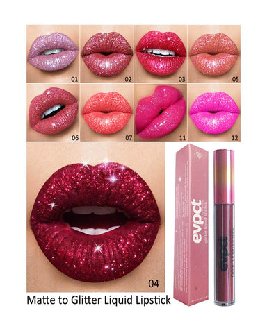 EVPCT Diamond Shiny Matte Lip Gloss