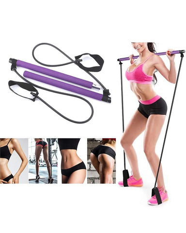 Yoga Pilates Exercise Resistance Band Portable Set