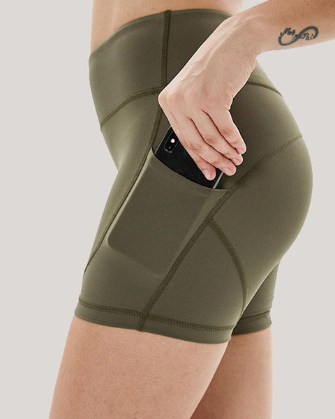 Solid Skinny High Elastic Yoga Shorts