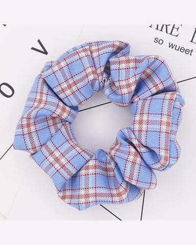 Plaid Print Elastic Hair Scrunchies