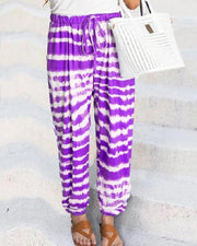Tie Dye Gradient Long Pencil Pants