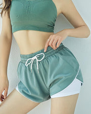 Double Layer Drawstring Shorts