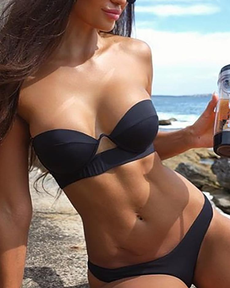 Sexy Push Up Strapless Bikini Swimsuit