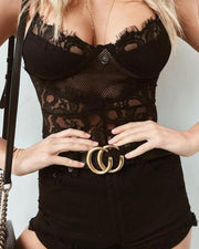 Bustier Detail Lace Cami Top