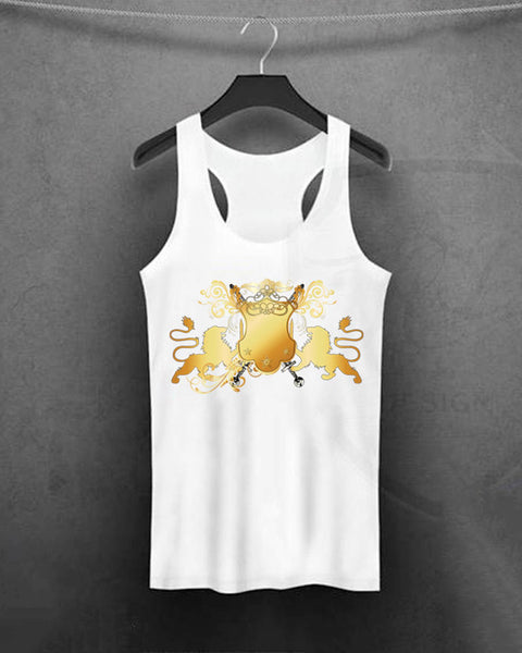 Casual Lion Print Tank Top