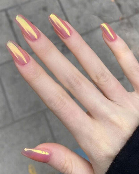 Jelly Aurora Nail Tip Manicure