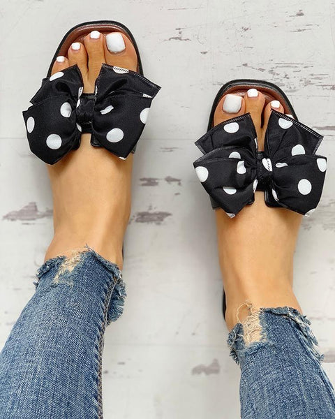 Bowknot Design Open Toe Sandals