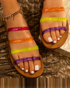 Open Toe Hollow Sandals