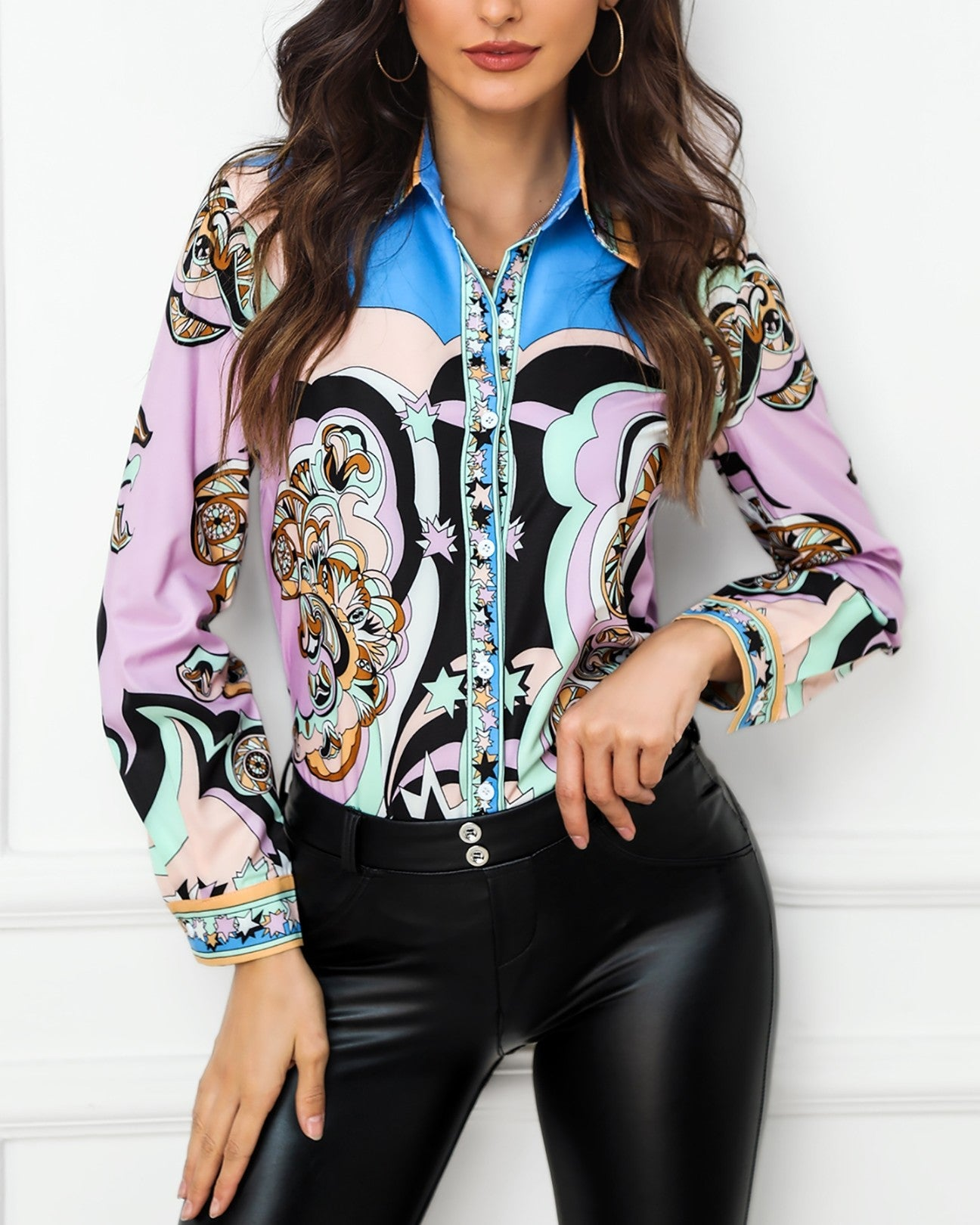 Print Long Sleeve Casual Shirt