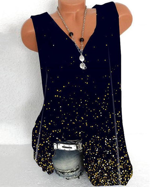 Dot Print Loose Tank Top