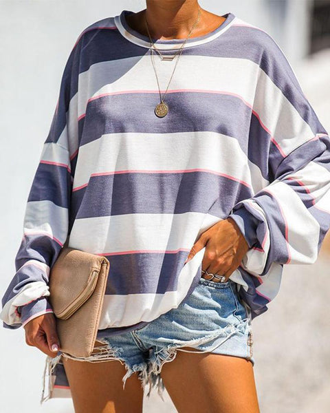 Striped Pullover Tops