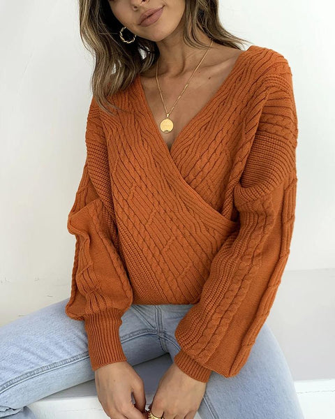 Loose Solid Long Sleeve Sweater